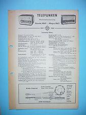 Service Manual-Anleitung für Telefunken Gavotte 1063,Allegro 1063 ,ORIGINAL