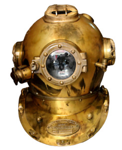 Vintage Diving Divers Helmet U.S Navy Mark Antique Brass Maritime Helmet Scuba