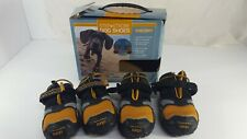 """Kurgo Step N Strobe Dog Shoes Water Resistant Dog Boots XXSmall 2"""" Set 4 Shoes"""