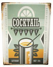 Tôle Plaque XXL Nostalgie alcool rétro champagne
