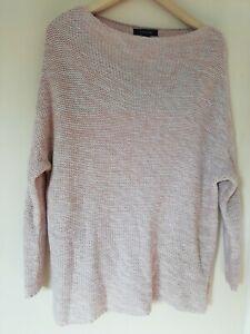 Jumper 8/10 Pink Garter Stitch straight neck Long sleeve Autumn Winter soft warm
