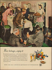 1948 Vintage ad  Brewer's Foundation`Art Thanksgiving John Gannam Beer (061717)