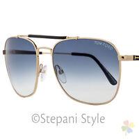 Tom Ford Square Sunglasses TF377 Edward 28W 60mm Rose Gold/Matte Black FT0377