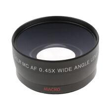 Convertisseur grand angle 0.45X de 58mm + lentille de conversion Marco,