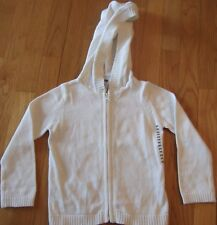 NEW  White  GAP  Zip Up  SWEATER  Jacket  HOODIE  Size Small  5 6  NWT