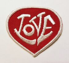 "Vintage ""LOVE"" Patch Red Heart NOS 1970s Hippie Made in USA"