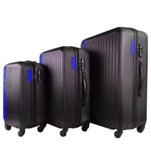 3pc Luggage Hard Case Suitcase Set TSA Lock Travel Carry On Bag Lightweight