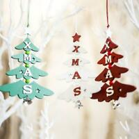 Christmas Wooden Pendant Hanging Door Decorations Tree Home Ornaments Party K3B1