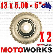 "2 X 13 x 5.00 - 6"" Inch Tire Rim Wheel ATV QUAD Scooter Bike Gokart Buggy Mower"