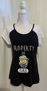 Details about  /New Womens size L//XL 14-18 Minions Chemise Despicable Me 3 Nightgown Knit