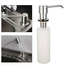 White Liquid Soap Dispenser Lotion Pump Cover Built in Kitchen Sink Countertop