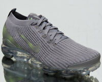 Nike Air VaporMax Flyknit 3 Men's Grey Green Lifestyle Athletic Sneakers Shoes