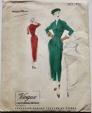 40s DESIGN VINTAGE Couture VOGUE Couturier Parigi stile giorno OCCASIONE NEW LOOK