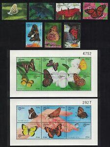 Bhutan Butterflies 7v+2 Sheetlets 1999 MNH SG#1386-1404 CV£27.-