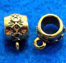 40Pcs. WHOLESALE Tibetan Antique Gold BAILS Fancy Charm Pendant Connectors Q0344