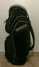 Ogio Giza 15 Way 7 Pocket Cart Bag with Rain Cover (Black/White/Silver)