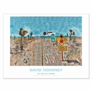"30"" x 40"" POSTER FEATURING DAVID HOCKNEY'S ICONIC PEARBLOSSOM HIGHWAY!"