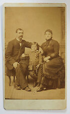CDV Photograph Man and Woman with Young Boy Family Portrait