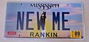 """MISS VANITY LICENSE PLATE """"NEW ME"""" EXERCISE FIT FITNESS WORKOUT LOSE WEIGHT THIN"""