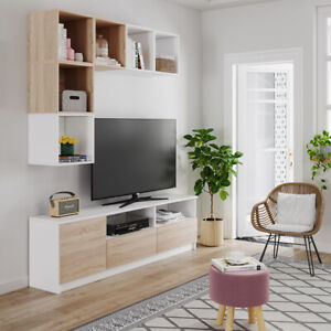 Modern Living Room Set Furniture Center Cupboard Wall Unit TV Stand Cabinet