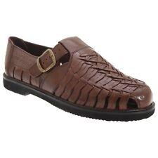 Gordini Shane Mens Interlaced Stylish Full Leather Comfort Summer Sandals Brown UK 8
