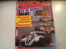 ** Auto Hebdo n°319 GP de Monaco / Audi Coupé GT 5E / Toyota Celica 2000 GT