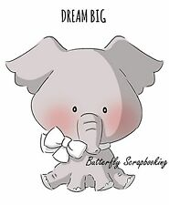 ZOO BABIES ELEPHANT SET Cling Unmounted Rubber Stamp AI Art Impressions 4533 NEW