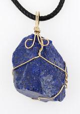 Colgante Piedra Mineral Natural en Bruto con alambre RAW lapislazuli amatista