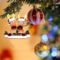 2020 DIY Elk Family Christmas Xmas Tree Bauble Decoration Ornament Family Gift