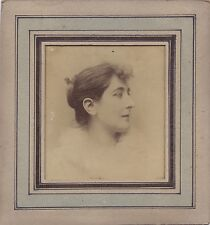 Très beau portrait d'une femme Photo Pierre Petit Paris France Vintage albumine