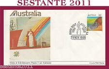 VATICANO FDC ROMA VISITA GIOVANNI PAOLO II AUSTRALIA ADELAIDE 1986 (620)