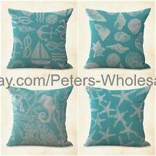US SELLER- 4pcs patio cushion cover cushion covers coral reef sea star beach