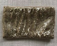 BCBG Max Azria Gold Sequin Clutch Purse Great For Holidays