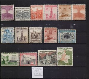 ! Colombia 1954. Air Mail Stamp. YT#A238/252. €79.50!