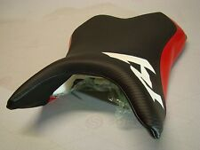 YAMAHA 2007-008 YZF R1 FRONT SEAT COVER black carbon fiber texture/red/white