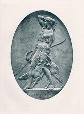 "WOW 1800s HAMO THORNYCROFT Antique Print ""Goddess of the Hunt"" Framed SIGNED COA"