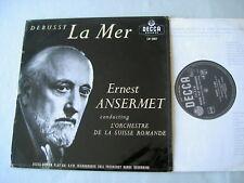 "DEBUSSY La Mer Ansermet 10"" vinyl LP"