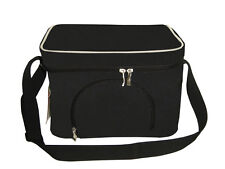 Delux insulated Cooler Bag | Lunch Bag | 8 Litre / 9 can capacity | Black