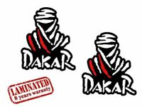 2 PVC Vinyle Autocollants Dakar Paris Rallye Decals Stickers Voiture Auto Moto