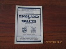 1974 (UEFA INTERNATIONAL YOUTH TOURNAMENT QUALIFIER) ENGLAND v WALES