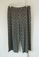 womens J JILL WEAREVER pants full leg cropped crop capri stretch petite M MP