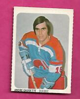 RARE 1973-74 WHA QUAKER OATES NORDIQUES ANDRE GAUDETTE  MINI CARD (INV# A8291)