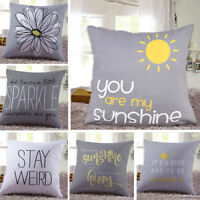 45cm Top Seller Letter Print Wave Pillow Case Throw Cushion Cover Sofa Home Deco