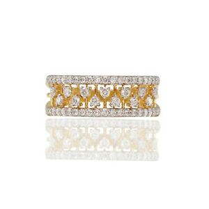1/2 Ct Diamond Engagement Band Ring 14k Yellow Gold