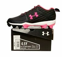 Under Armour Leadoff Low Rm Jr Baseball Cleats 3022072-002 Pink Black Choose Sz