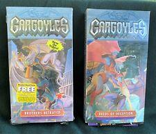 Disney Gargoyles VHS Deeds of Deception Vol.3 And Brothers Betrayed Vol.4.
