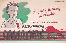 W34 BUVARD Pain d'épices GRAND CASSE Brochet Frères a BESANCON