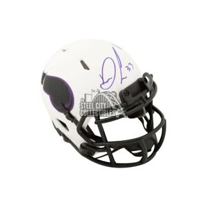 Dalvin Cook Autographed Vikings Lunar Eclipse Mini Football Helmet - JSA COA