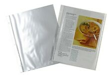 Plastic 8.5 x 11 Recipe Protectors for 3-ring binders, New, Meadowsweet Kitchens