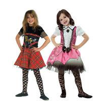 Punk Girl Punkgirl Punker Rocker Punky Punkerin Rockerin Rock Kostüm Kinder Set